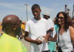 Rabbi Susan Talve with her student Terrell Wooten Jr. at a youth march in Ferguson.