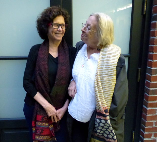 Filmmaker Tova Beck-Friedman (left) and Janet Naava Ades. Photo by Amy Stone.