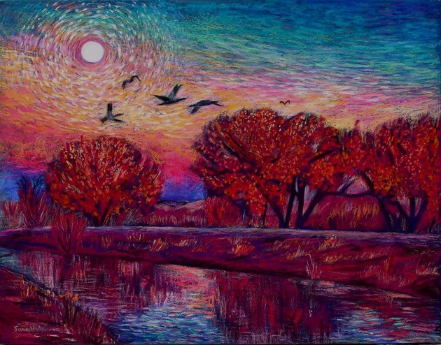 """Evening's Flight,"" Archival Pigment Print. © Sara M Novenson 2012"