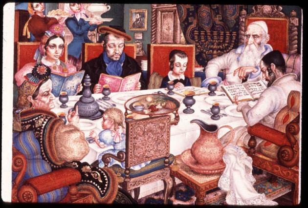 """Passover,"" Arthur Szyk, 1948. Yeshiva University Museum."