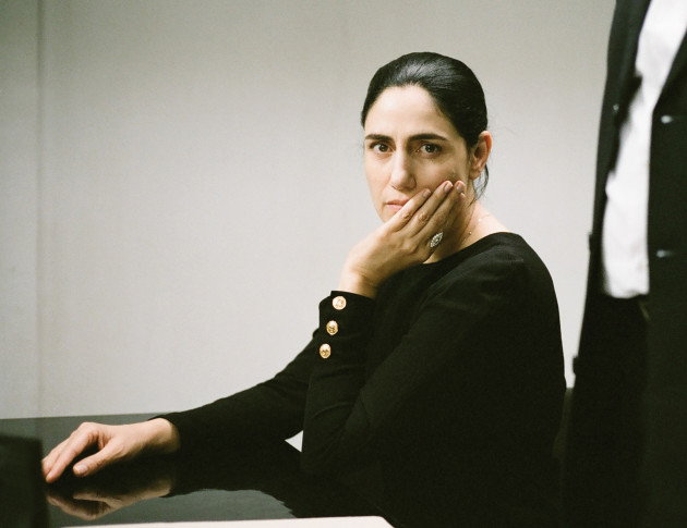 "Ronit Elkabetz, Israeli film star, writer and director in her last film, ""Gett: The Trial of Viviane Amsalem."""
