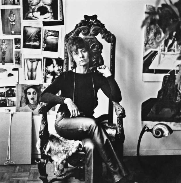 In 1971, Diane was gaunt and depressed. She lamented that her work no longer gave her anything back. In her Westbeth apartment, she posted photographs that depicted people with deformities and victims of horrific violence. © Eva Rubinstein.