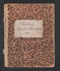 Kochbuch (cookbook) by Rosalie Höchstädter, 1891.