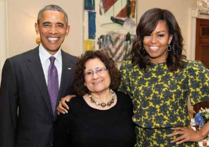 Susan Barocas at an Obama White House seder. She was guest chef for the seders from 2014-2016.