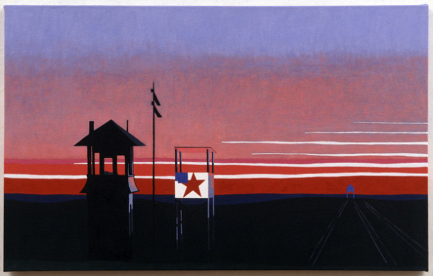 Dusk, Railroad - 2008 - 30 x 48 - Oil: Canvas