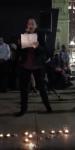 Rabbi Annie Lewis speaking during the vigil.