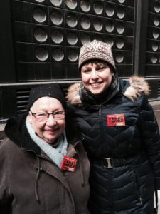Ann Toback, executive director of the Workmen's Circle, with Rita Margulies, Clara Lemlich's daughter.