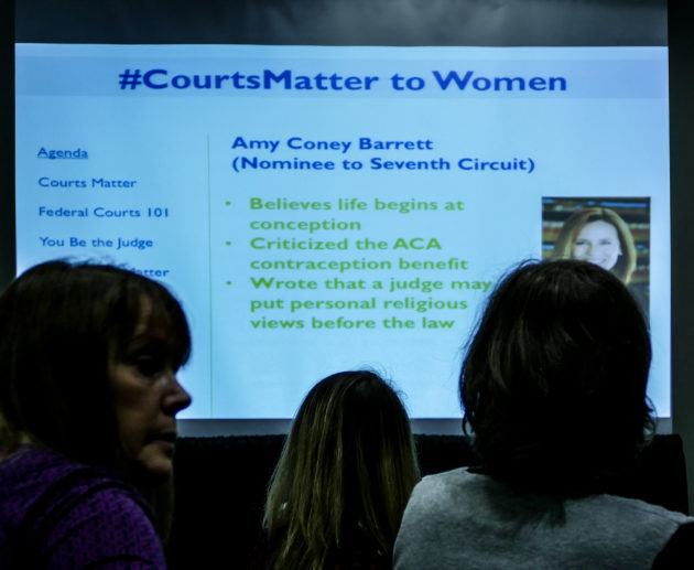 The National Council of Jewish Women (NCJW) ran a session on the importance of the courts to women at the convention.