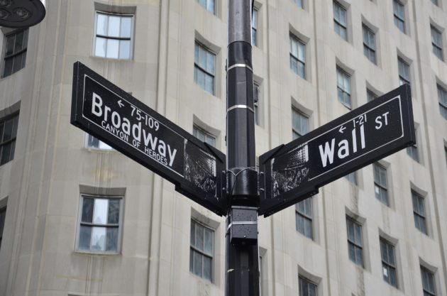 wall street broadway sign