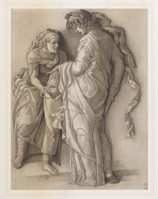 "Print, ""Judith with the Head of Holofernes,"" 19th century, unknown artist."