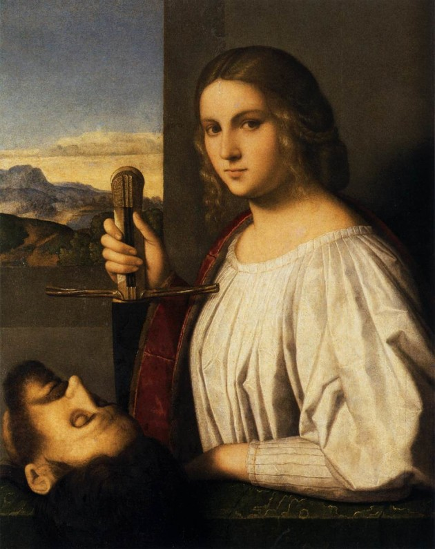 Judith with the head of Holofernes, painting by Vincenzo Catena