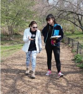 Liba Vaynberg strolls alongside Tovah