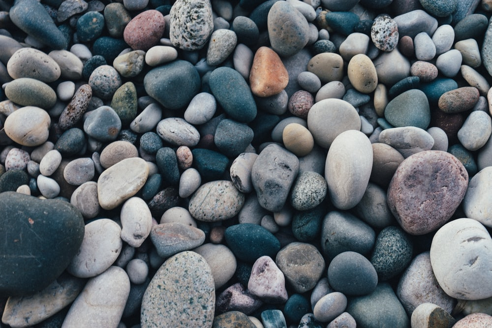 stones of varying colors